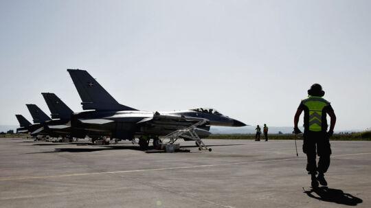 Danske kampfly under aktionen i Libyen. Arkivfoto