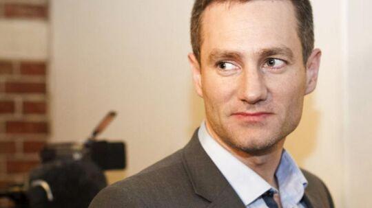 De konservatives frontfigur i København Rasmus Jarlov nåede mandag formiddag at jage en indbrudstyv på flugt.