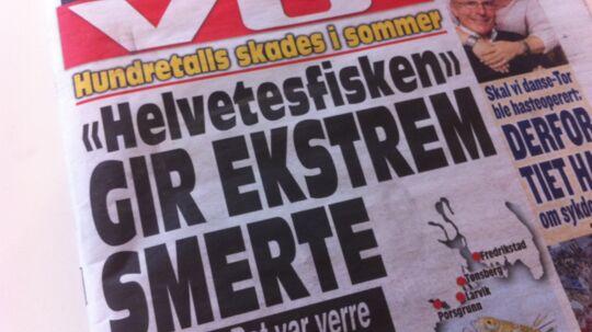 Den norske avis Verdens Gang advarer på forsiden mod 'helvedesfisken'. Og den værste af slagsen kommer fra Danmark.