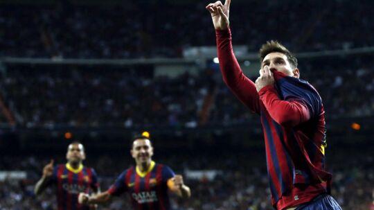 Lionel Messi scorede hattrick i søndagens El Clásico.