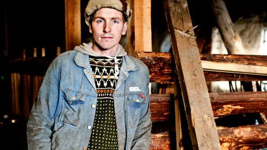 Bonderøv: Frank Erichsen er landmanden, alle vil se.