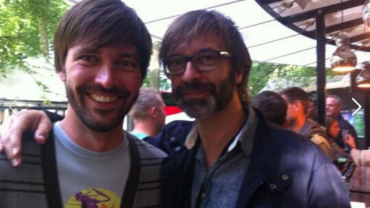 Hvem er hvem? Komikeren Martin Brygmann og politikeren Jens Joel mødte omsider hinanden på Smukfest i Skanderborg.