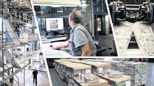 """Det er et kæmpe arbejde at få en avis på gaden. Heldigvis kan trykkemaskinen trykke 35.000 aviser i timen - men den KAN have en """"off-day""""."""