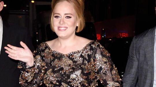Hello! Man skal have levet under en sten, hvis man ikke har opdaget, at balladernes ubestridte og bedårende dronning Adele er tilbage for fuld styrke. Adeles nye album '25' landede i sidste uge, og den 27-årige stjerne er i skrivende stund i New York for at markedsføre udgivelsen. En markedsføringsturné der bl.a bød på en gæsteoptræden i satireshowet Saturday Night Live (sammen med Matthew McConaughey...) i weekenden samt en intimkoncert (for bl.a veninden Jennifer Lawrence) i Radio City Music Hall (foto) i sidste uge. Ved koncerten var Adele iført et brag af en glimtende pailletkjole fra en af sangerindens yndlingsdesignere - briten Jenny Packham.Klik videre og find din glitrende festrobe...