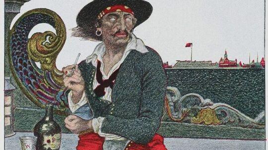 Kaptajn Kidd som maleren Howard Pyle fortolkede ham.