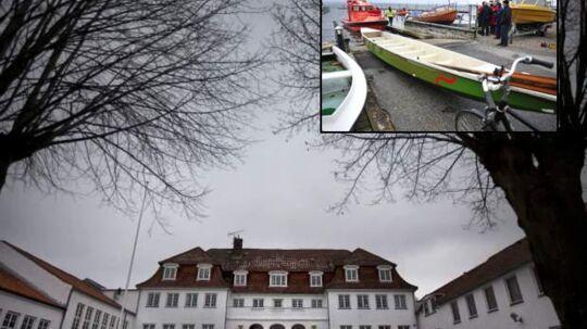 Lundby Efterskole. Det var 13 elever og 2 lærer fra Lundby efterskole der kæntrede i en dragebåd i Præstø fjord fredag den 11/2.
