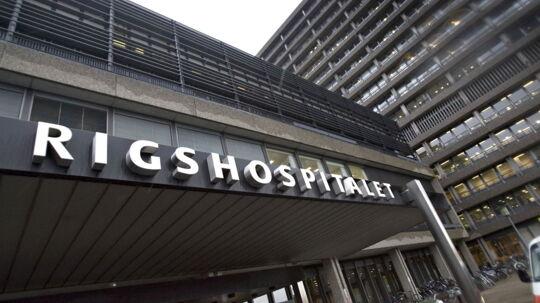 Rigshospitalets hovedindgang 11. januar 2007 (arkivfoto).