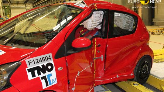 Danmarks mest solgte mikrobiler gennem de senere år er de tre identiske biler Citroën C1, Peugeot 107 og Toyota Aygo. I en ny test opnår de kun tre ud af fem teststjerner.