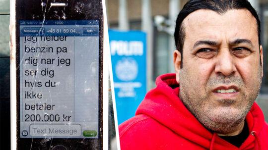 Ali Zineddine ejer The Taco Shop på nyelandsvej, Frederiksberg. Her er han flere gange blevet afpresset til at betale beskyttelsespenge. Søndag modtog han en sms, hvor han blev truet på livet. Den trussel anmeldte han mandag til politiet.