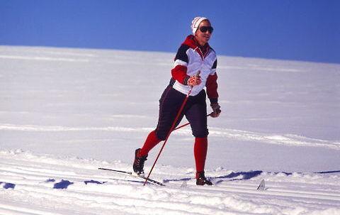 Dronning Margrethe er en ivrig skiløber. Arkivfoto: Keld Navntoft.