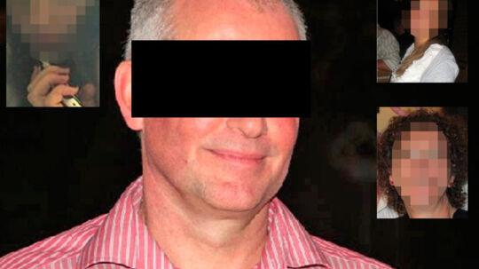 50-årige S. dræbte i fredags sine to døtre (øverst tv og øverst th) og sin kone (nederst th).