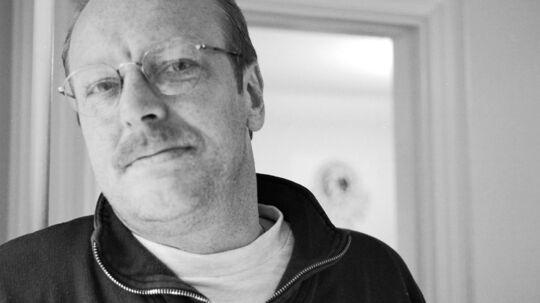 Journalist Rene Simmel fra før han fik konstateret kræft.