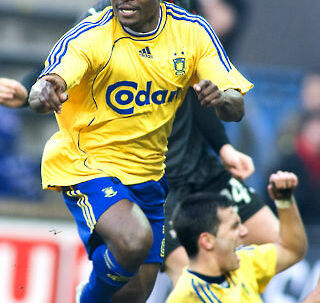 Chris Katongo scorede to mål, da Brøndby vandt 3-0 over FC Midtjylland.