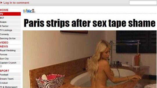 Paris Hilton har ikke noget problem med at vise sig nøgen i sit nye realityprogram. Samtidig er hun ked af det omdømme, hendes sexvideo har givet hende.