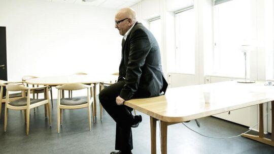 Peter Høgsted fremlægger sit første regnskab for dagligvarekoncernen Coop Danmark. Han overtog posten som administrerende direktør efteråret. Her er han fotograferet på sin nye, og dengang endnu, tomme kontor.