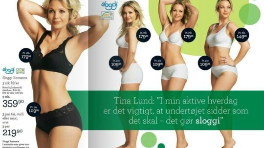 Der er ikke meget, der er overladt til fantasien i den nye Sloggi-reklame med Tina Lund.