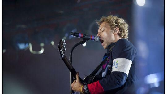 Chris Martin for tre år siden på Roskilde Festivalen. (Foto: Torben Christensen/Scanpix 2012)