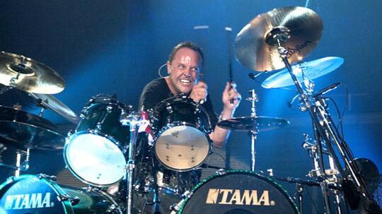 Lars Ulrick ved trommerne i Metallica.