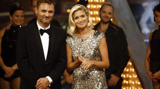Vild med dans 2012 - værterne Christiane Schaumburg-Müller og Claus Elming. (Foto: Camilla Rønde/Scanpix 2012)