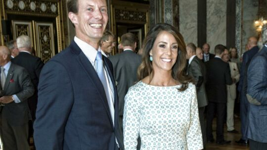 Hoffet bekræfter, at prinsesse Marie og prins Joachim fremover får adresse i Klampenborg. Her ses de ved Hofmarskal Ove Ullerups afskedsreception.