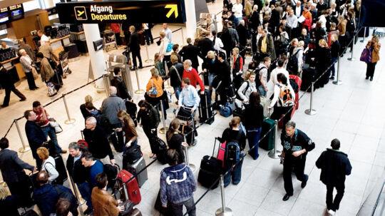 Før årets største rejsedag forventer Københavns Lufthavn massiv kø til sikkerhedskontrollen.(Arkivfoto)