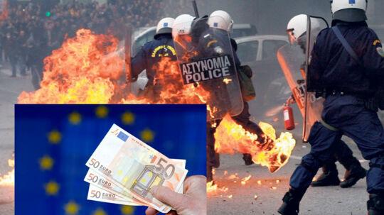 Grækenland skal gennemføre store økonomiske reformer trods stor folkelig modstand. Lykkes det ikke i Grækenland samt i flere andre sydeuropæiske lande, så kan hele euro-projektet gå op i luer.