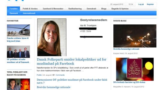 Omtalen af sagen på p77.dk.