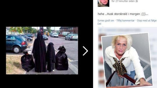 Dansk Folkeparti-politikeren Tina Petersen fra Svendborg redder karrieren, selv om hun i dag blev meldt til politiet for en racistisk ytring på Facebook.