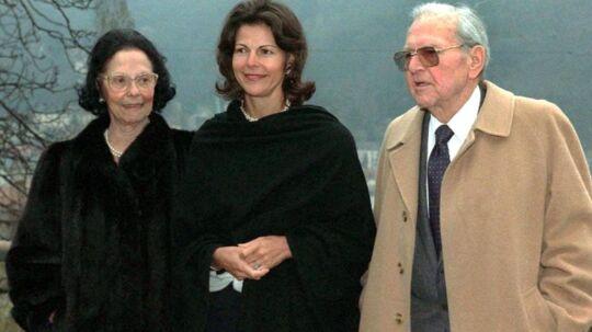 Dronning Silvias ses her sammen med sine forældre, Alice og Walther Sommerlath, i Heidelberg kort før faderen døde i 1990.