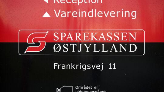 Sparekassen Østjylland med hovedsæde i Hammel blev i går overtaget af Sparekassen Kronjylland. (Foto: Bo Amstrup/Scanpix 2012)
