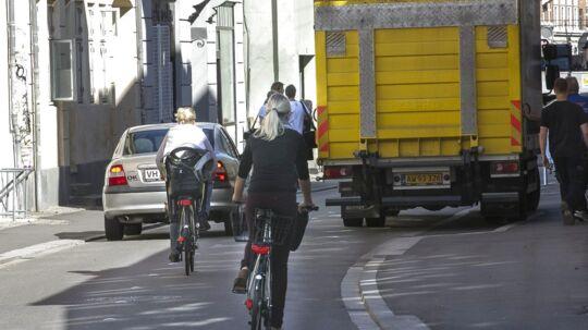 Et forbud mod cyklister på Havnegade/Kystvejen er på vej. I stedet skal cyklerne køre ad Mejlgade. Hvordan fungerer den som cykelgade.