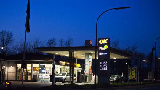 Det var på denne OK-tank i Rebæk Søpark, at rockerne gik amok.