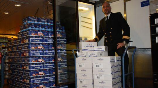 Nordmændene hamstrede så meget smør på Oslo-båden onsdag, at DFDS torsdag atter måtte fylde køleskabet op.