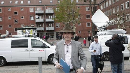 Morten Messerschmidt ankom allerede klokken 18 til medborgerhuset Korsgadehallen.