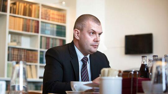 Finansminister fra Socialdemokraterne, Bjarne Corydon, på sit kontor i Finansministeriet.