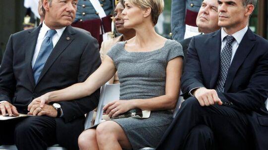 Frank og Claire Underwood - Kevin Spacey og Robin Wright - har været med til at skabe succes for Netflix: »House of Cards« blev for nylig nomineret til 13 Emmyer