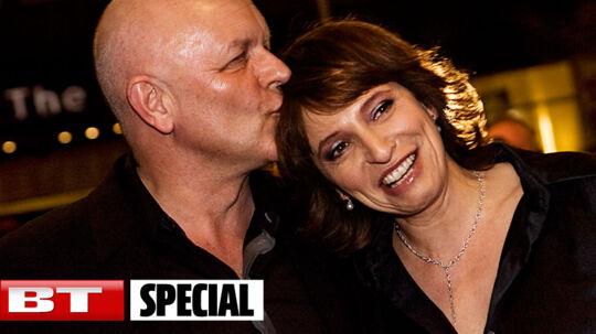 Susanne Bier og Jesper Winge Leisner, fotograferet sammen ved en filmpremiere.