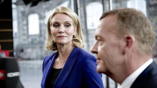 Statsminister Helle Thorning-Schmidt og Lars Løkke Rasmussen stødte sammen under sidste uges duel hos TV2.