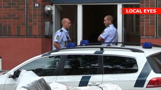 Det var i denne opgang i Lundtoftegade i København, knivstikkeriet fandt sted.