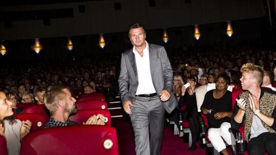 Den irske skuespiller Liam Neeson er her til gallapremiere på sin nyeste film 'Taken 2' i Imperial i København mandag aften.