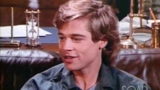 Som 25-årig spillede Brad Pitt rollen som Randy i Dallas, hvor han var karl på den store ranch Southfork. Foto: Brad Pitt Center