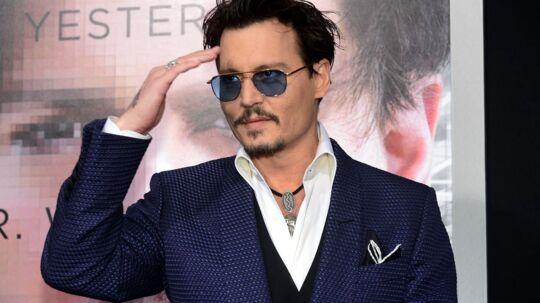 Johnny Depp under premieren på sin nyeste film 'Transcendence'