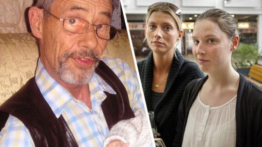 Birgit Petersen og hendes søster Anne Christiansen føler sig stærkt utilpasse i Hedegårdens Butikscenter i Ballerup, hvor deres far - den 62-årige invalidepensionist Mogens Jessen - 9. september 2010 mistede livet.