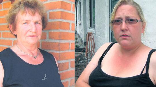 Både hos fasteren Ingrid Dahlmann (tv.) og barndoms-veninden Sanne Becker er minerne bekymrede, når de tænker på Helene Mortensen. De kan ikke forstå, hvordan Helene kunne finde på at bortføre sit eget barn.