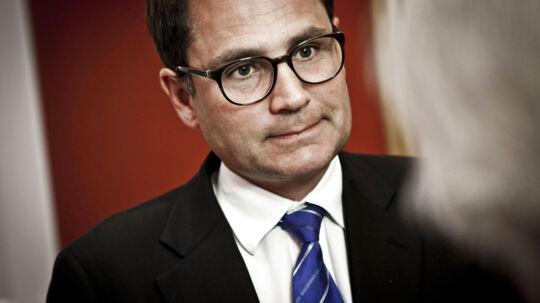 Politikerne på gangene på Christiansborg. Fotograferet i anledningen af den kommende skattereform. Her ses Brian Mikkelsen, Venstre.