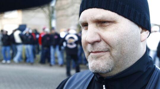 Arkivfoto 2011 af Jørn Jønke Nielsen. // Hells Angels-talmand Jørn 'Jønke' Nielsen har ingen kommentarer til politiets teori om, at fredagens overfald på to HA rockere var et internt opgør. (Foto: Nils Meilvang/Scanpix 2011)