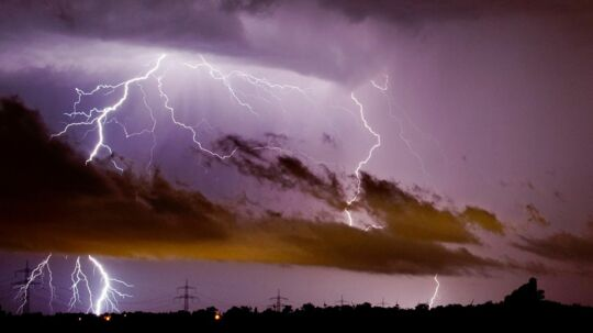 Lyn fra uvejret 10. juni 2014, som indtil videre har kostet seks tyskere livet.