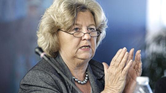Kulturminister Uffe Elbæk (R) for i morges i tasterne i vrede over en udtalelse, som tidligere integrationsminister Birthe Rønn Hornbech kom med i går aftes på en konference.
