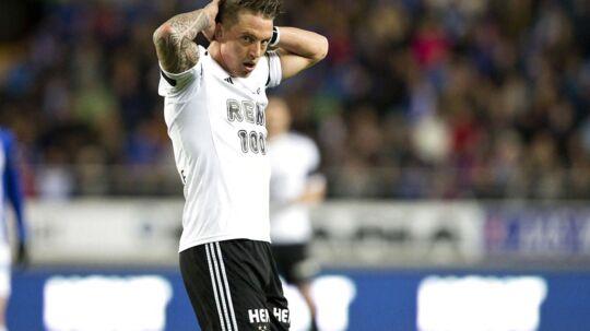 Nicki Bille er smidt af holdet i Rosenborg op til aftenens kamp mod Bodø/Glimt.