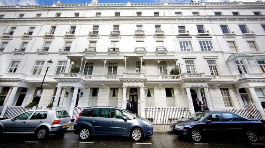 Den store lejlighed i London, hvor liget af Eva Rausing blev fundet.
